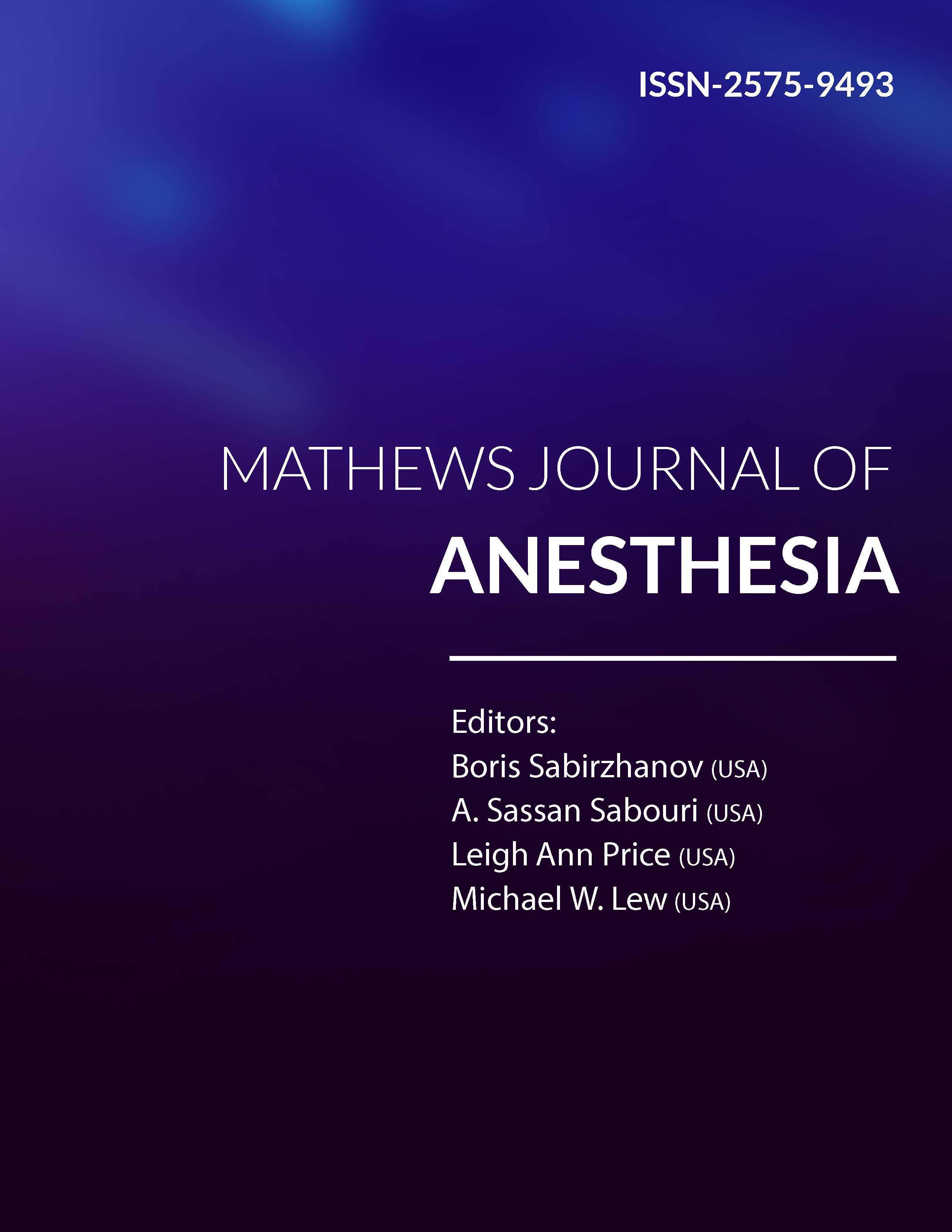 Mathews Journal of Anesthesia