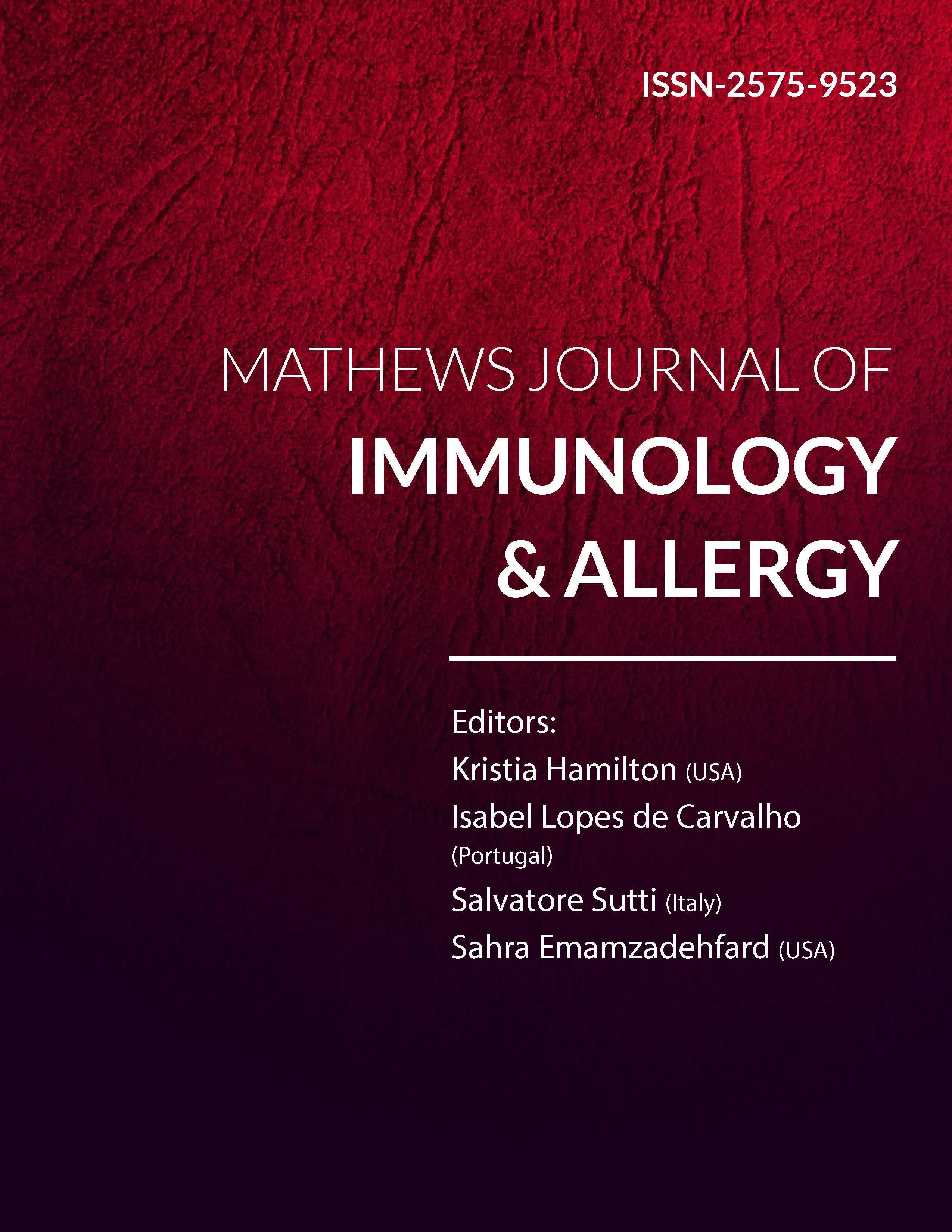 Mathews Journal of Immunology & Allergy